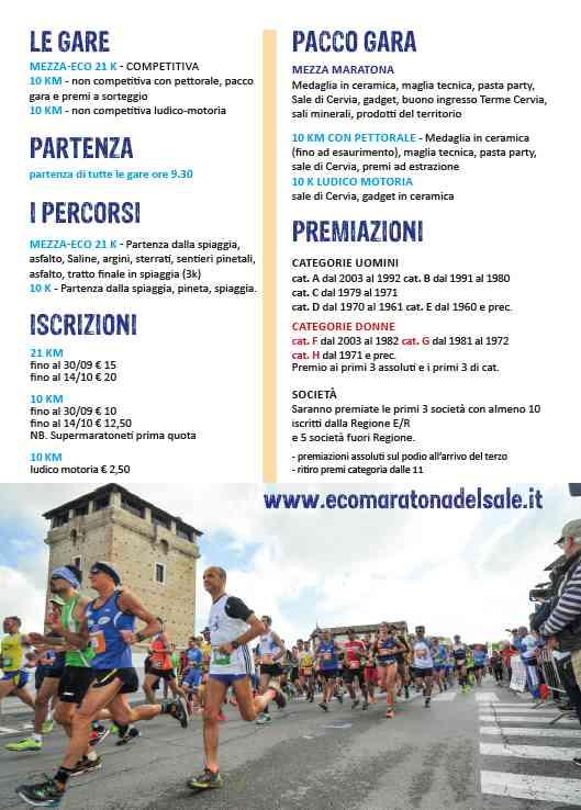Ecomaratona del sale, locandina 2021, parte 2