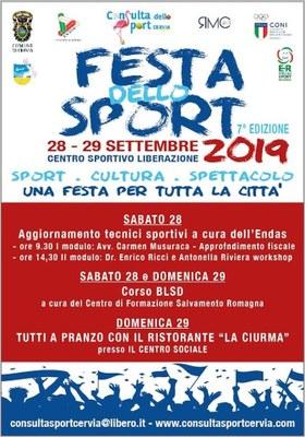 Festa dello Sport, locandina 2019