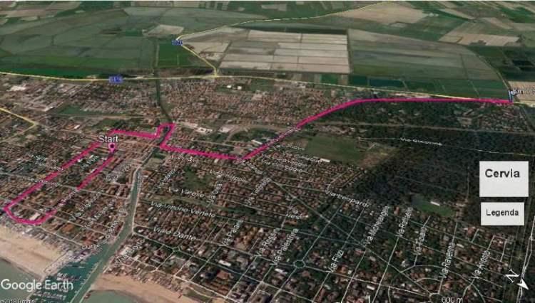 Giro d'Italia - percorso Cervia ottobre 2020