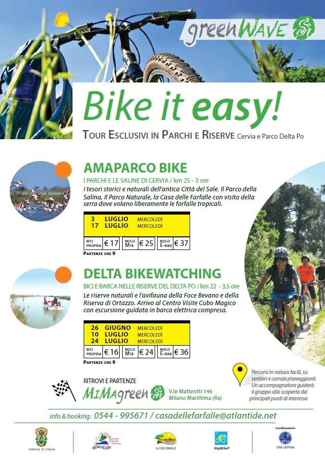 GreenWave, locandina Bike in easy 2019