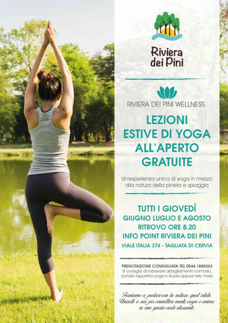 Lezioni di yoga in pineta, locandina