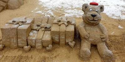Sculture di sabbia, sculture Natale