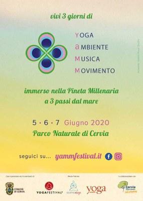YAMM festival, locandina 2020 retro