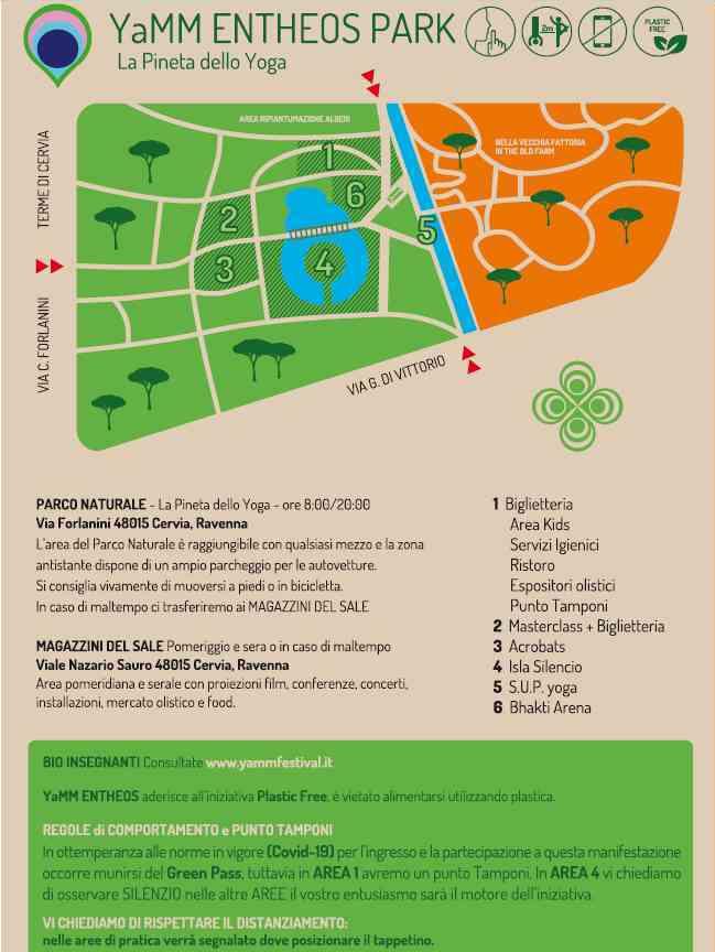 Yamm Festival, mappa luoghi