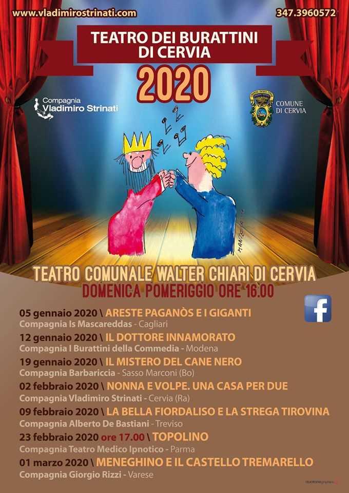 Teatro dei burattini - Compagnia Vladimiro Strinati, locandina 2020