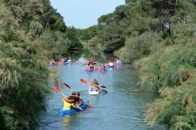 Kayak, bambini in canoa