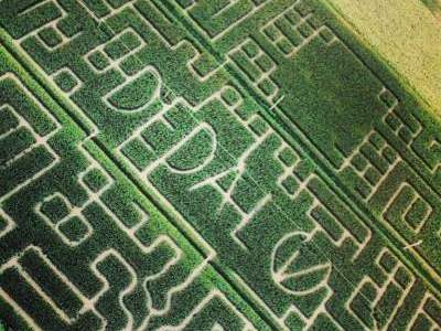 Labirinto Dedalo, veduta dall'alto