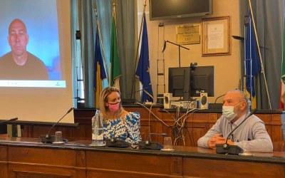 presentation in Cervia with Justine Mattera and Paolo Venturini