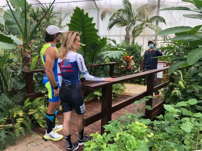 Justine Mattera at the Butterflies House in Milano Marittima