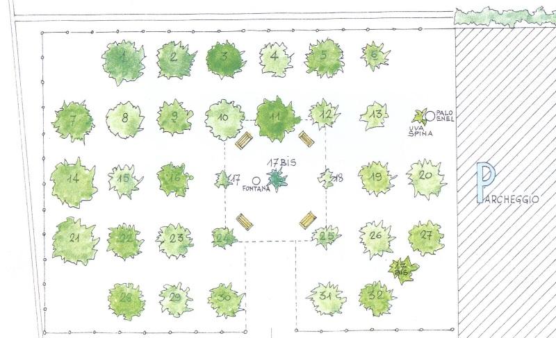 Orto Botanico dei frutti dimenticati, mappa