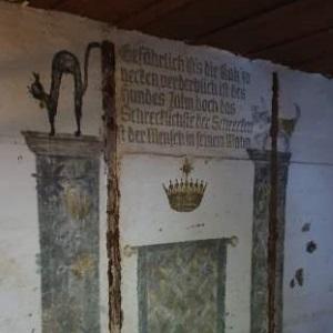 Dipinto tedesco nel bunker