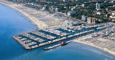 Cervia Harbour, aerial view