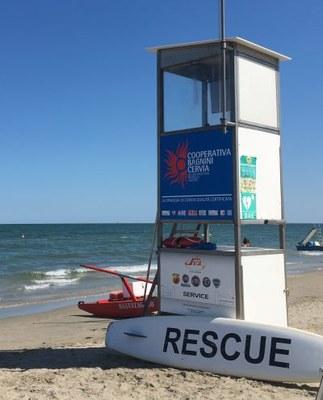 Spiaggia sicura, torretta bagnino