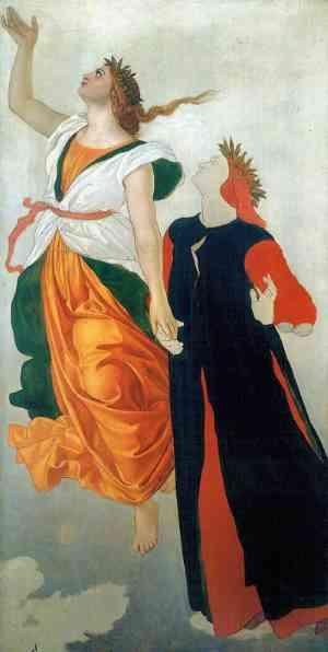 Dante. La visione dell'arte. Dante e Beatrice, William Dyce