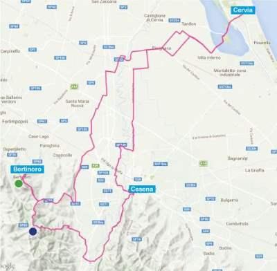 Sport Cycling, Bertinoro Tour mappa