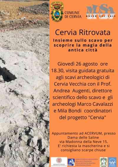 Cervia ritrovata, visita guidata scavi 26 agosto