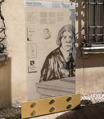 Il pannello in corso Giuseppe Mazzini - Ph. Arianna Bertozzi