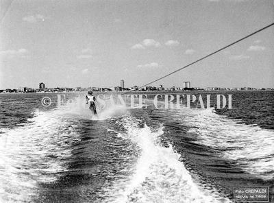 Regata storica Cervia-Pola, sci nautico in mare aperto - Ph. Sante Crepaldi