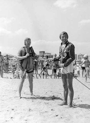 Rudy Neumann e Helmut Haller in partenza - Ph. Sante Crepaldi