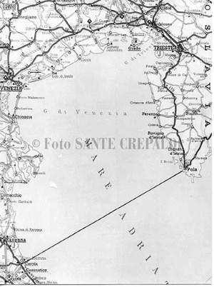 Piantina della traversata - Ph. Sante Crepaldi