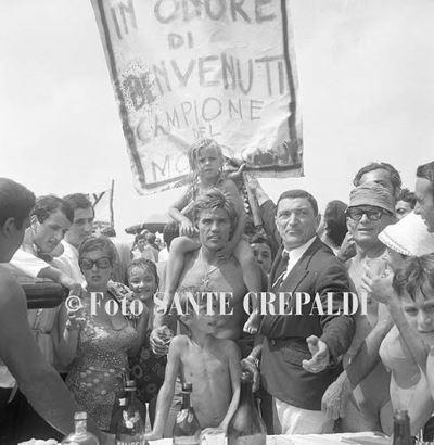 Festa in spiaggia in onore del campione del mondo - Ph. Sante Crepaldi