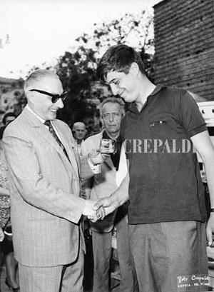 Carlo Saporetti in Piazza Garibaldi - Ph. Sante Crepaldi