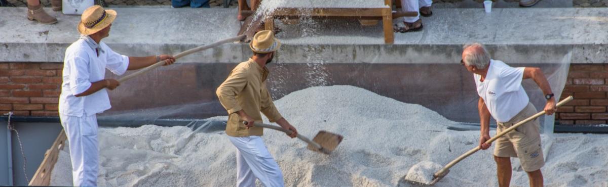 Scarico del sale durante Sapore di Sale