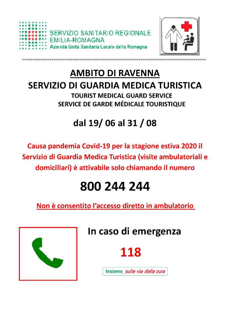 Assistenza medico-generica per turisti, locandina