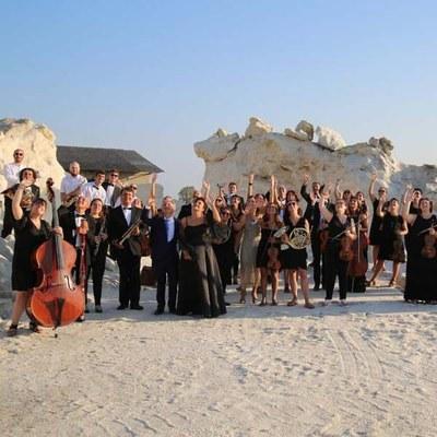 Tramonto in salina con la Grande Orchestra Città di Cervia