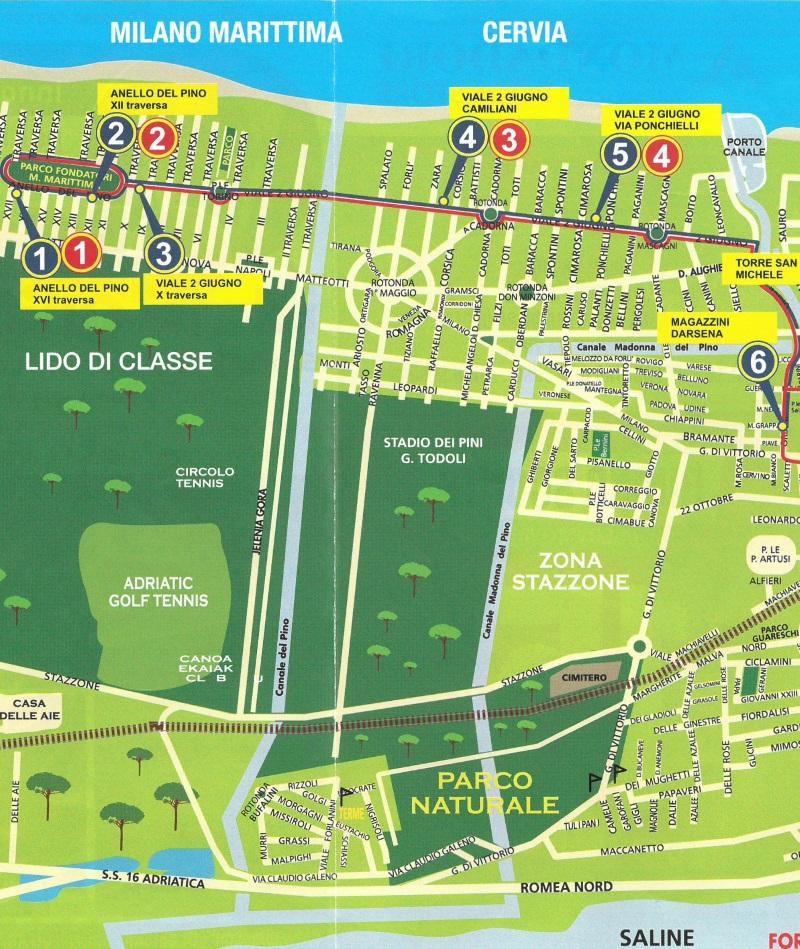 Trenino Mappa percorso Milano Marittima