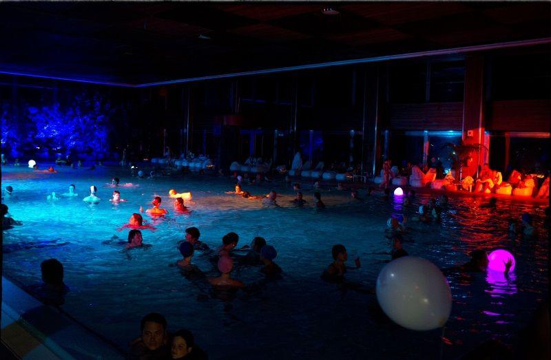 Notte celeste, piscina