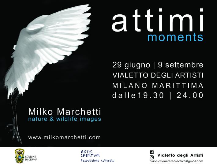 Vialetto degli artisti, locandina mostra Milko Marchetti
