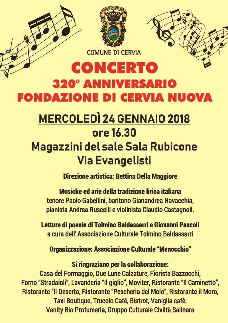 Concerto per il 320° di Cervia nuova, locandina