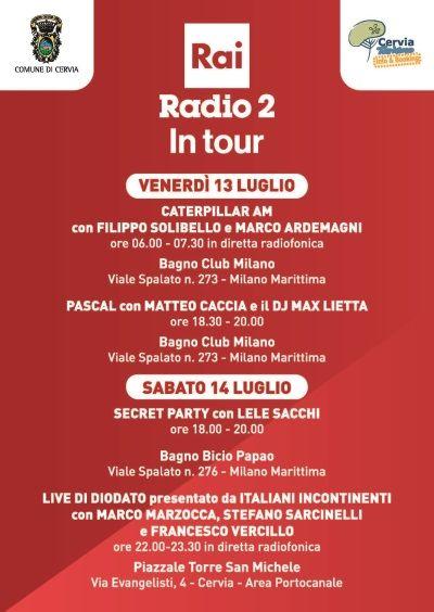 Radio2 in Tour, locandina