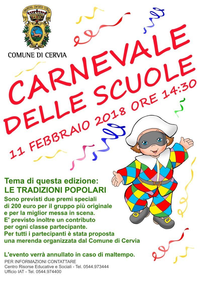 Carnevale delle scuole - locandina 2018 - 800-opt80