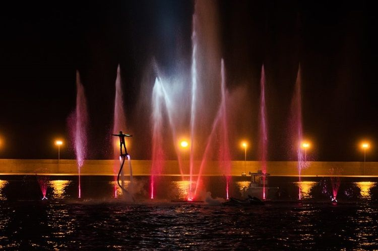 Notte Rosa, immagine Waterfly