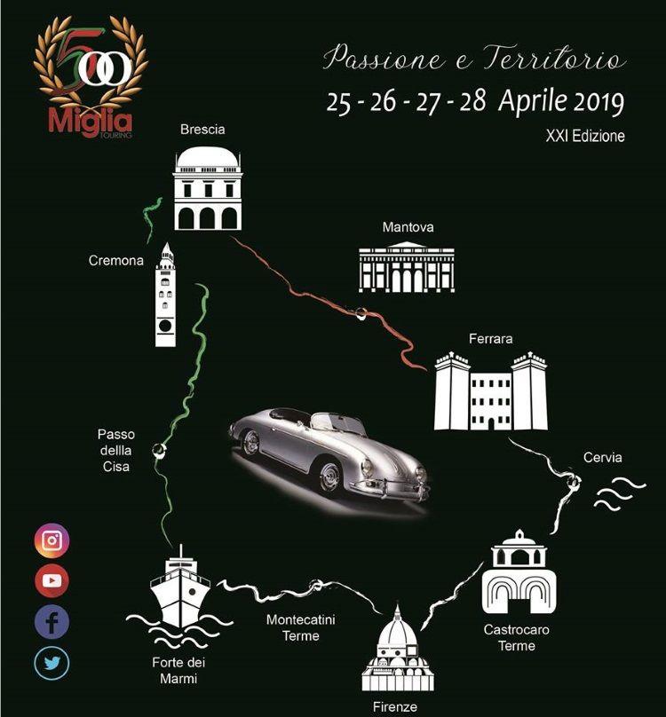 500 Miglia Touring, percorso