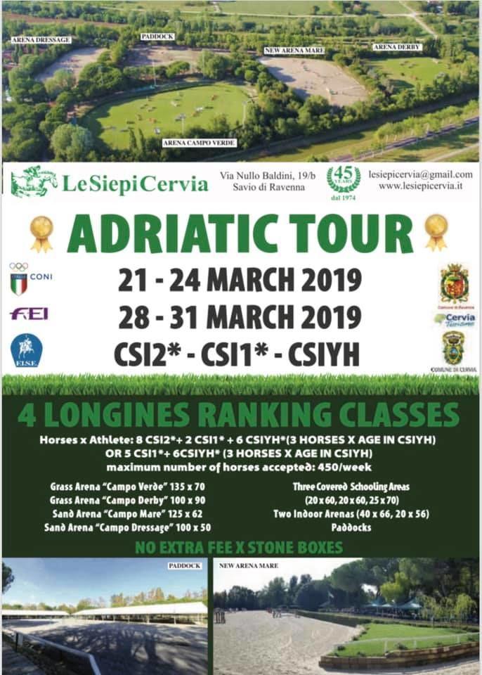 Adriatic Tour 2019, locandina
