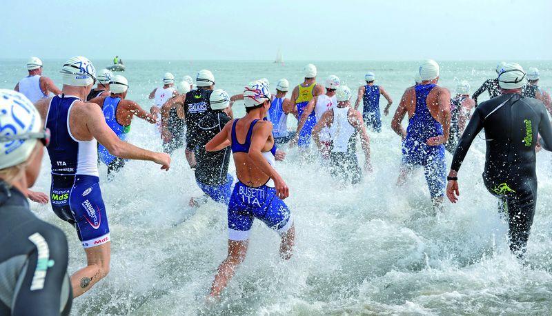 Ironman,  corsa in acqua