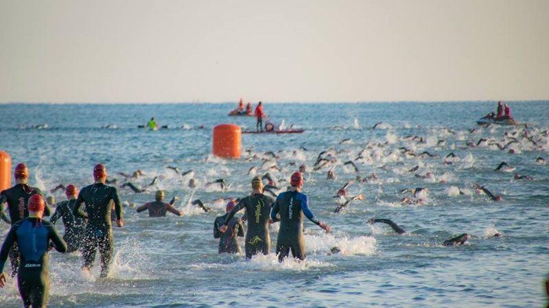Ironman, corsa in acqua foto Davide Forti