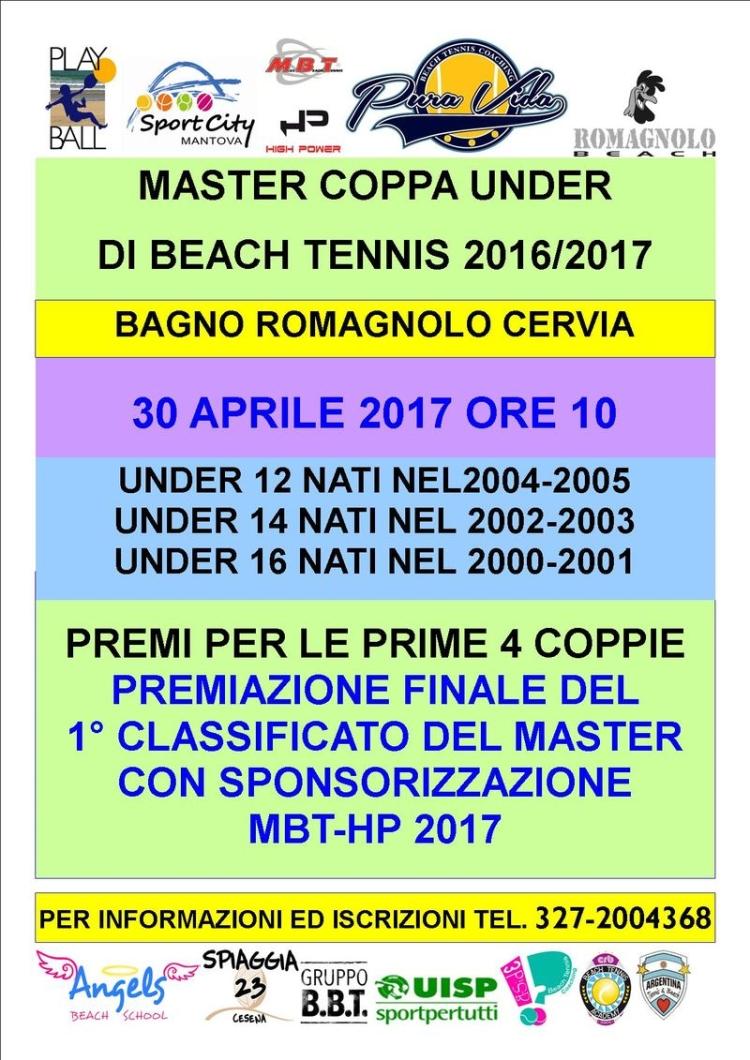 Playball - Master Coppa Under 2016/2017, locandina