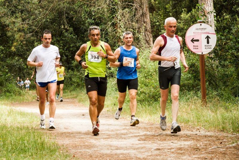 Running in, corsa in pineta