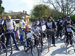 Sciame di biciclette