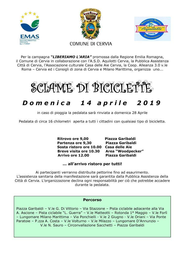 Sciame di biciclette, locandina 2019