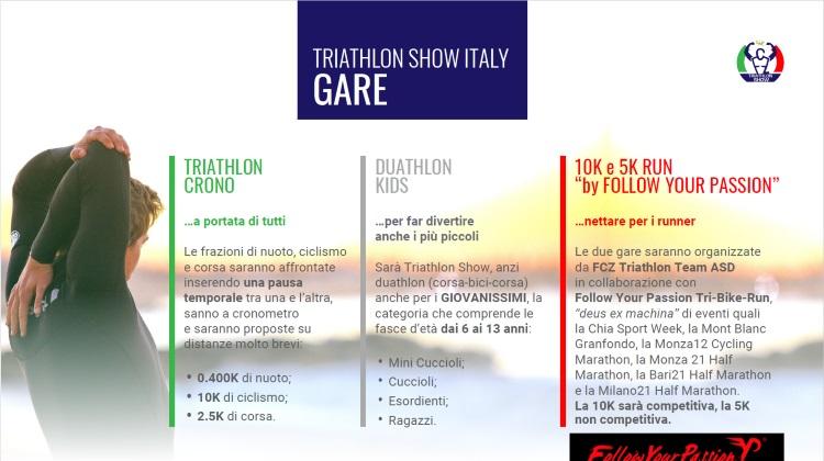 Triathlon Show Italy, gare