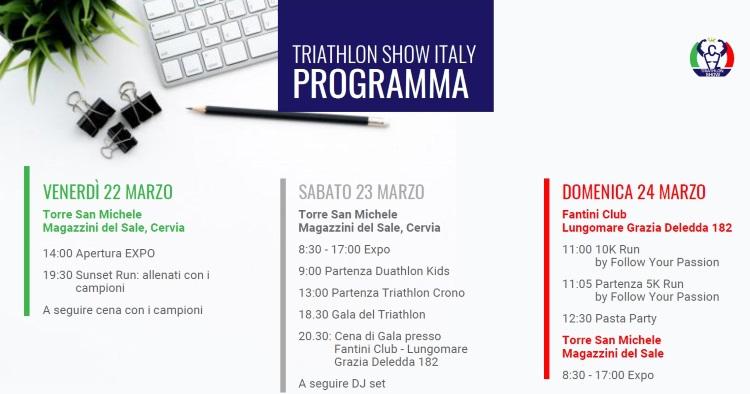 Triathlon Show Italy, programma