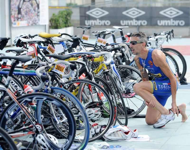 Triathlon, zona cambio