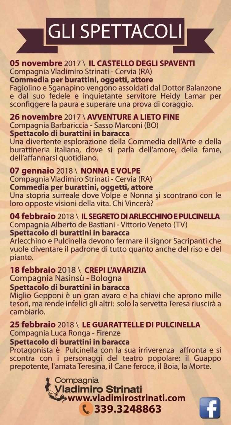 Teatro dei burattini - programma - retro - 750