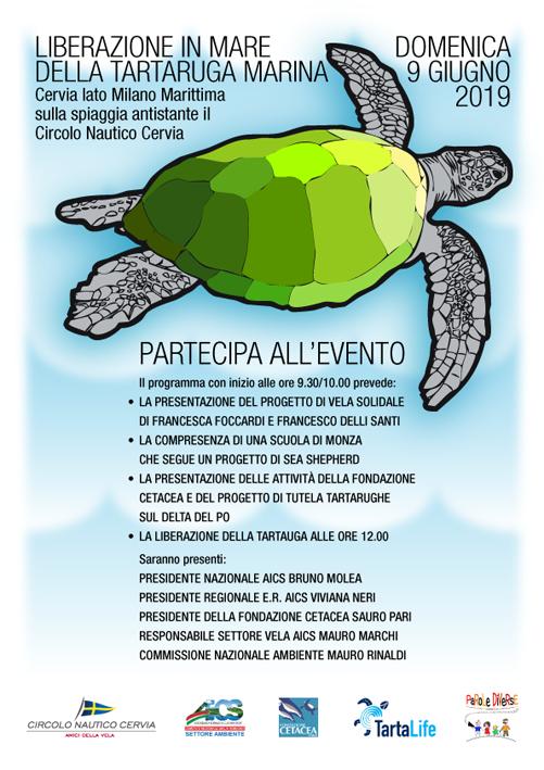Liberazione tartaruga marina, 9 giugno 2019 - locandina