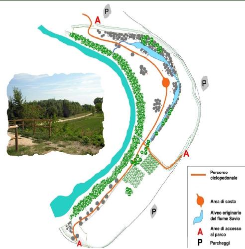 Parco Fluviale, mappa